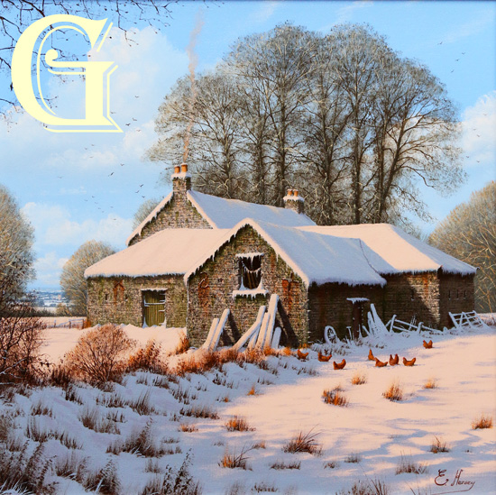 EDWARD HERSEY original painting, A WARM WELCOME AWAITS